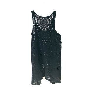 Other - Porto Cruz Black Lace Swim Coverup.
